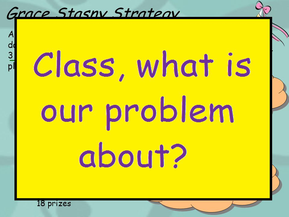 Grace Stasny Strategy A class picnic will cost about $50.