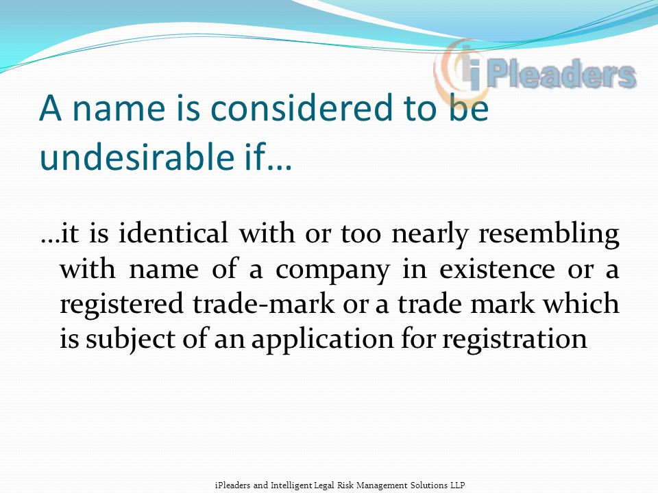 What you can not do to differentiate… Names are not distinguished with prefixes/suffixes, tense changes or adding words like 'The' or 'and' or 'co' or 'industries' which are generic.