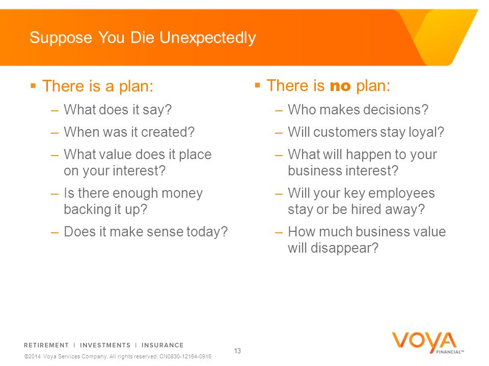 Do not put content on the brand signature area ©2014 Voya Services Company.