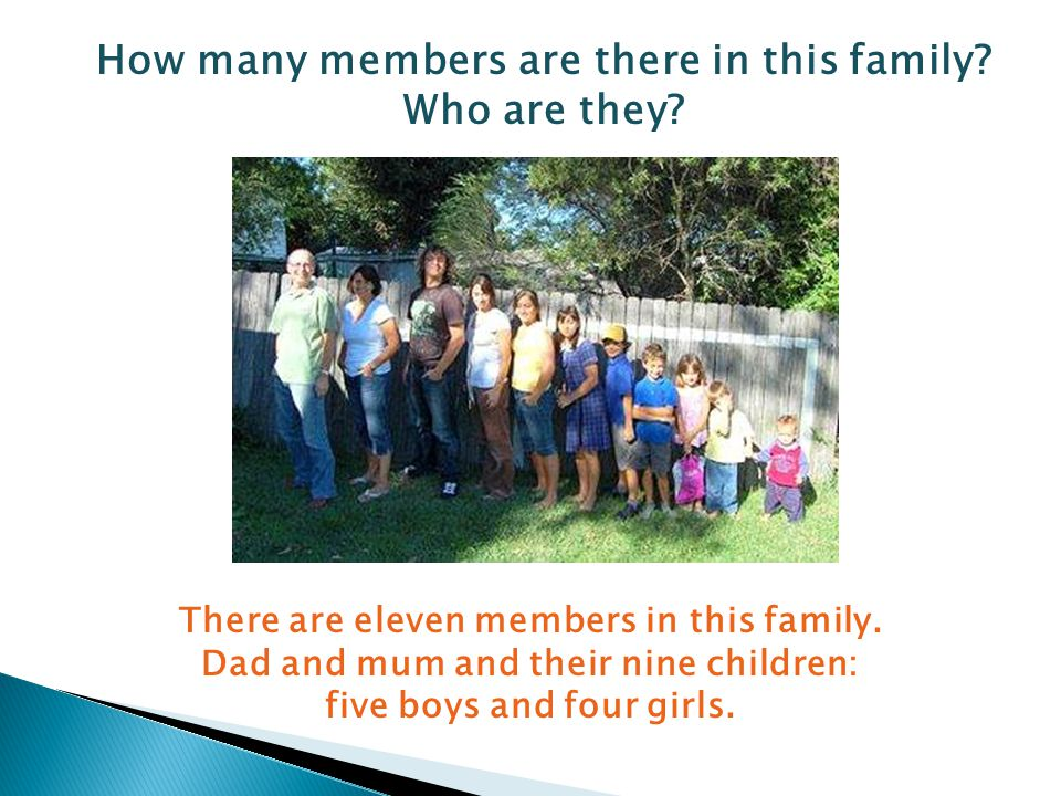 How many members are there in this family. Who are they.