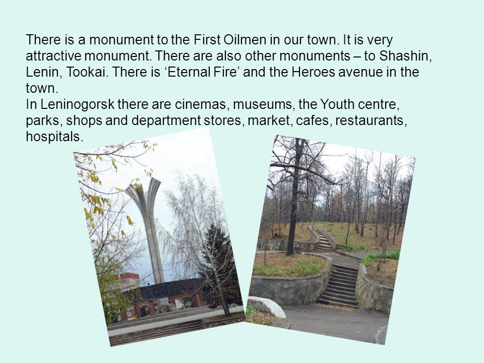 There is a monument to the First Oilmen in our town.
