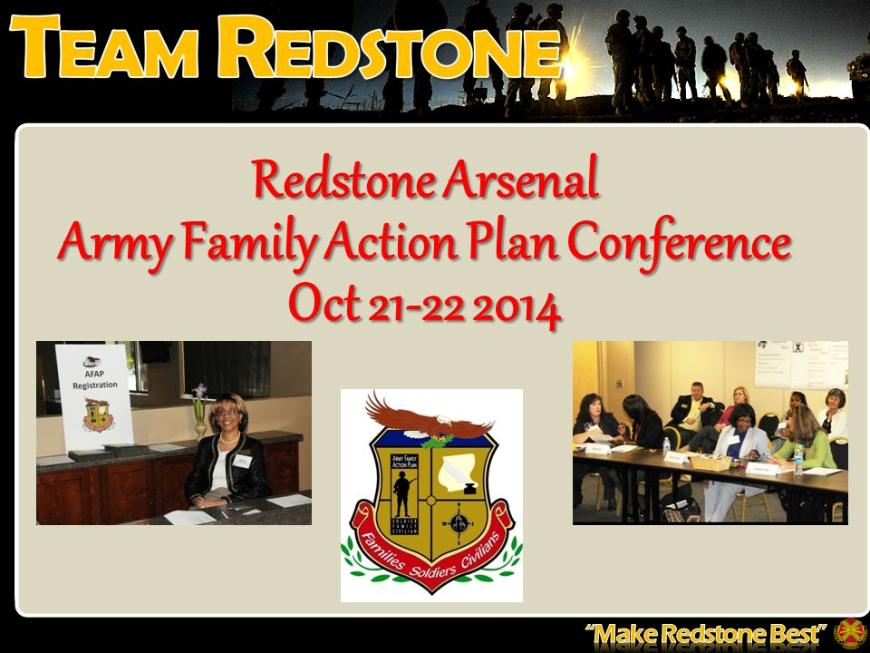 Redstone Arsenal Army Family Action Plan Conference Oct 21-22 2014