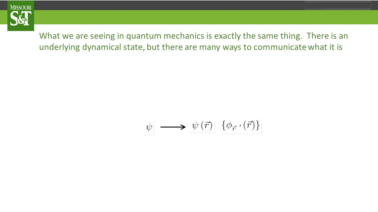What we are seeing in quantum mechanics is exactly the same thing.