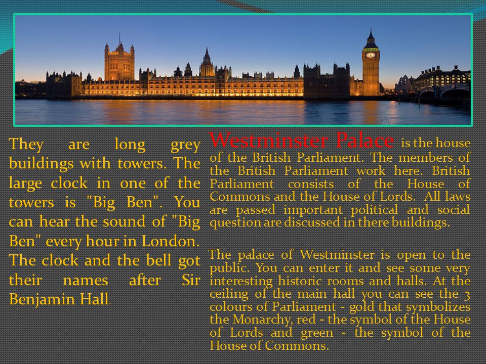 Buckingham Palace is the official London residence of the British Monarch. The Palace has 600 rooms. The palace was built by the duke of Buckingham in