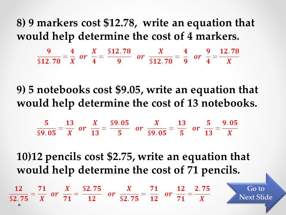 Video 3 – Since You're doing algebra! Go to Next Slide Go to Next Slide