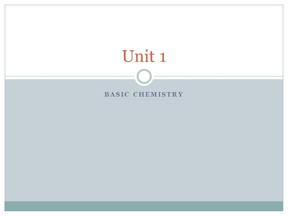 BASIC CHEMISTRY Unit 1