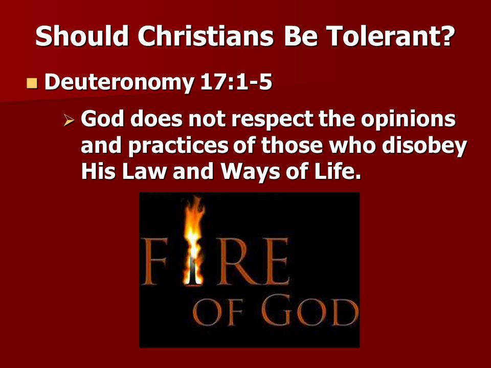 Romans 14:2-5, 10-13, 17 Romans 14:2-5, 10-13, 17 Should Christians Be Tolerant.
