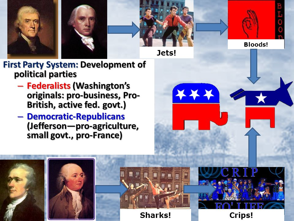 1.Jay's Treaty 2.XYZ Affair 3.Quasi-War 4.Alien and Sedition Acts 5. Revolution of 1800 6.Embargo Act, 1807 7.War of 1812 8.Monroe Doctrine 9.Marshall Court (McCulloch v.