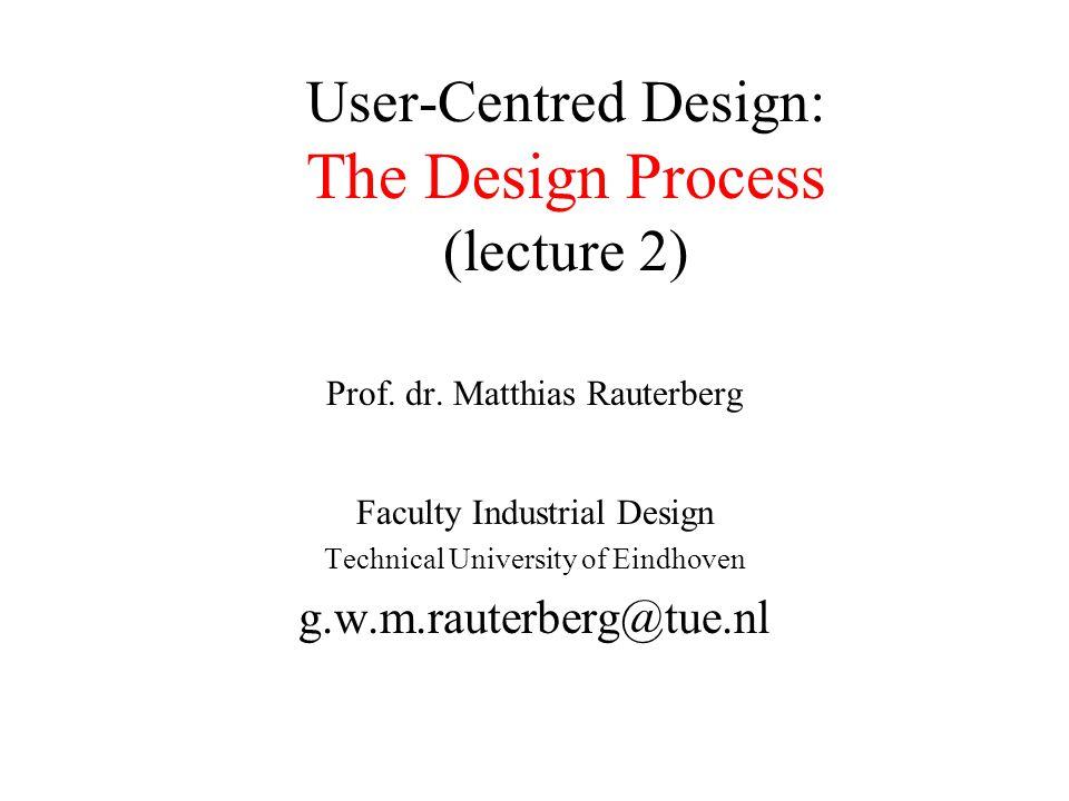 © M.Rauterberg, TU/e12 Why is User-Centred Design necessary.