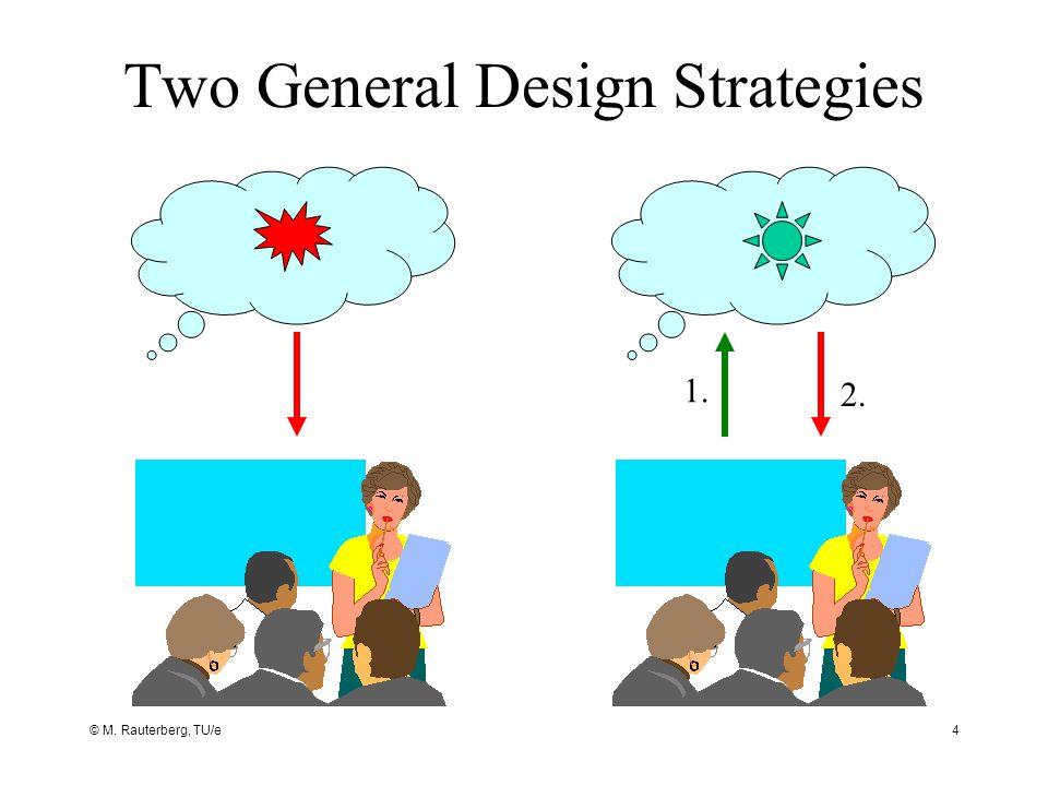 © M. Rauterberg, TU/e4 Two General Design Strategies 1. 2.
