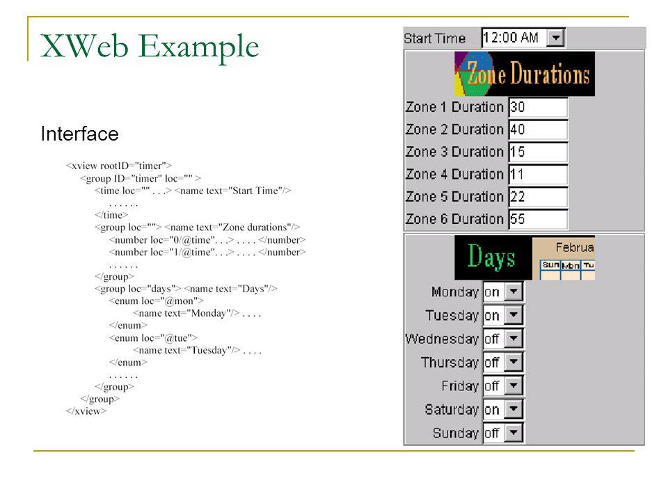XWeb Example Interface
