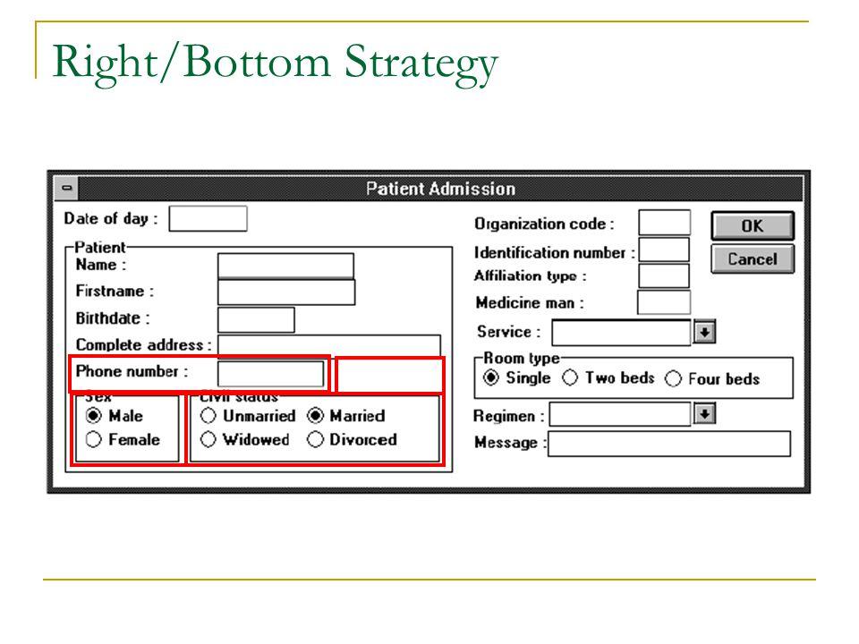 Right/Bottom Strategy