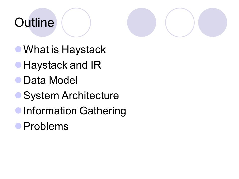What is Haystack.