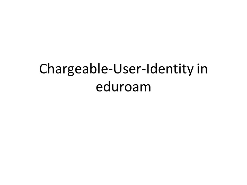 The problem Current eduroam setup provides per-realm granularity The consequences – if a guest misbehaves the SP can only black-list the entire realm – if someone uses the guest access to set up a full-time Internet link the SP may become suspicious about the eduroam idea and may want to turn on some quota system to defend against that kind of overuse (this may be a local-level problem but we might provide a universal solution) – in case of incidents locating the correct entries in the logs may be complicated by the fact that the SP logs will just show anonymous user