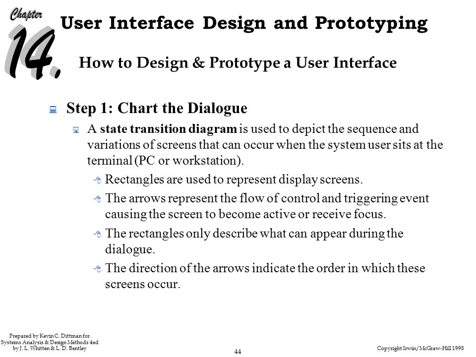 Copyright Irwin/McGraw-Hill 1998 44 User Interface Design and Prototyping Prepared by Kevin C.
