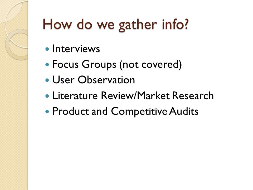 Handling the Interview Data Identify expectations Map behavioral variables to interview subjects Create personas