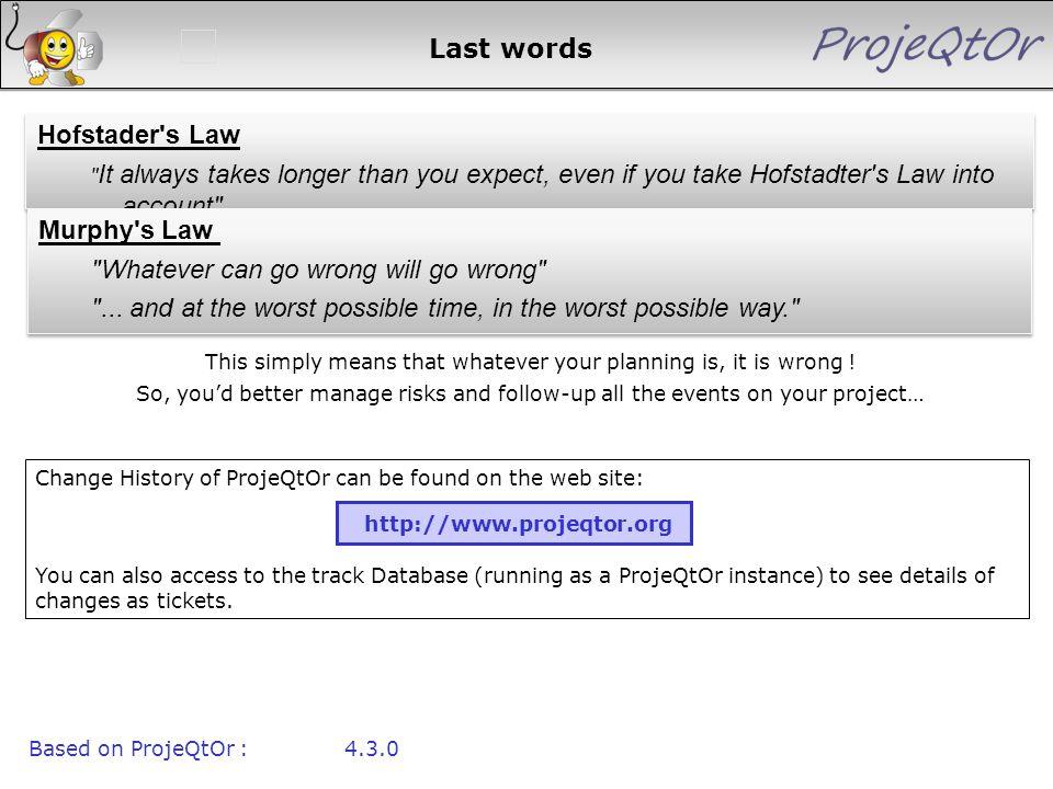 Last words Hofstader's Law