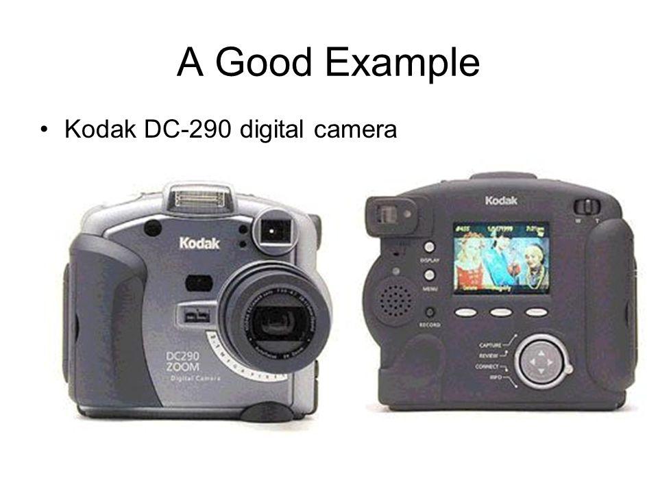 A Good Example Kodak DC-290 digital camera
