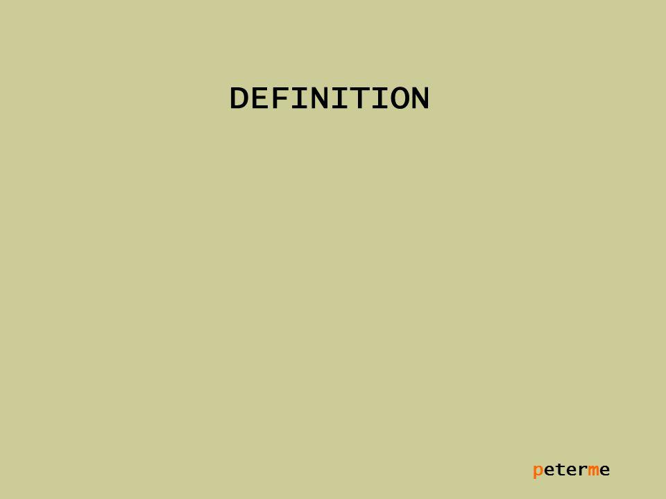 peterme DEFINITION