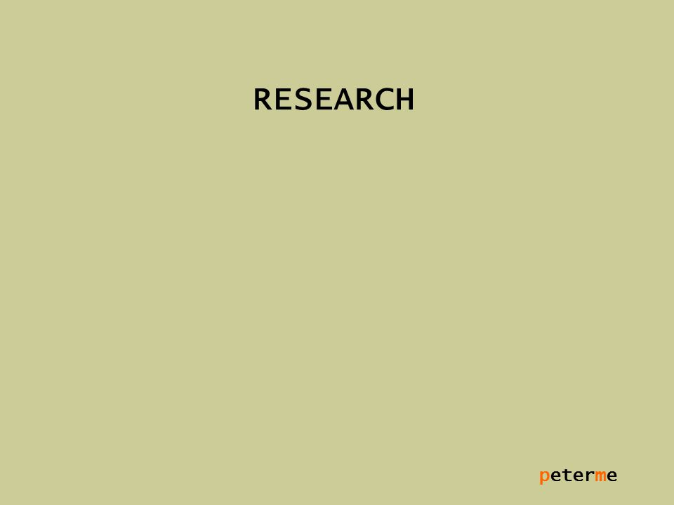 peterme RESEARCH
