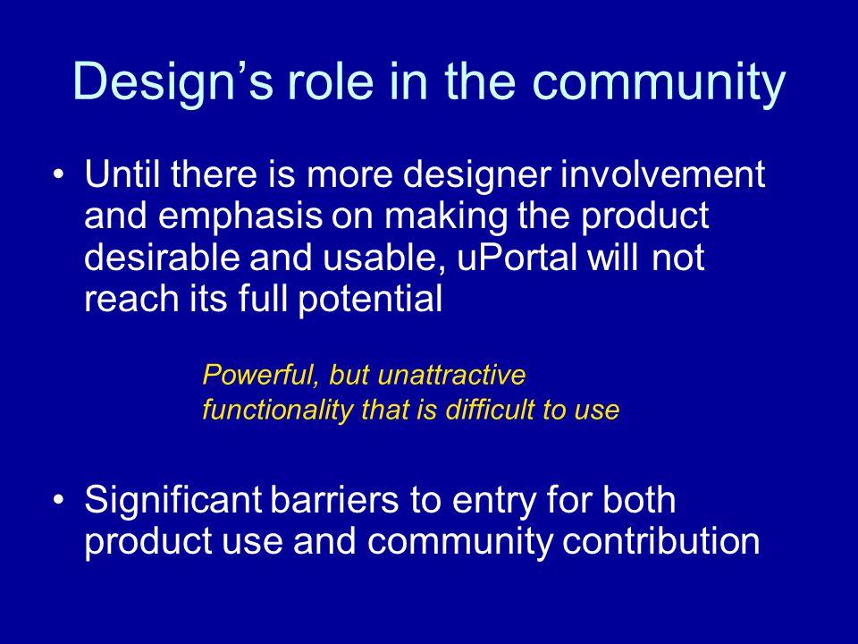 Design's role in the community