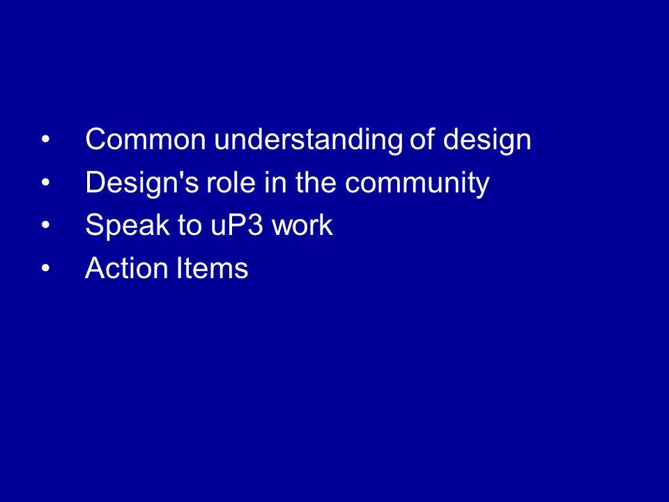 Common understanding of design What is User Experience.