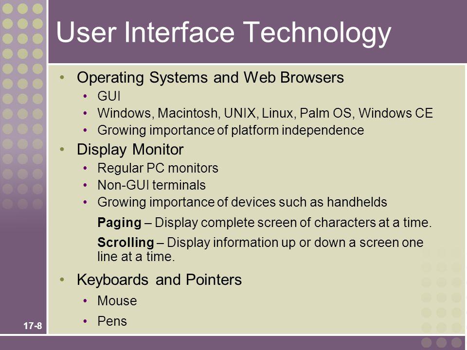 17-18 Hybrid Windows/ Web Interface