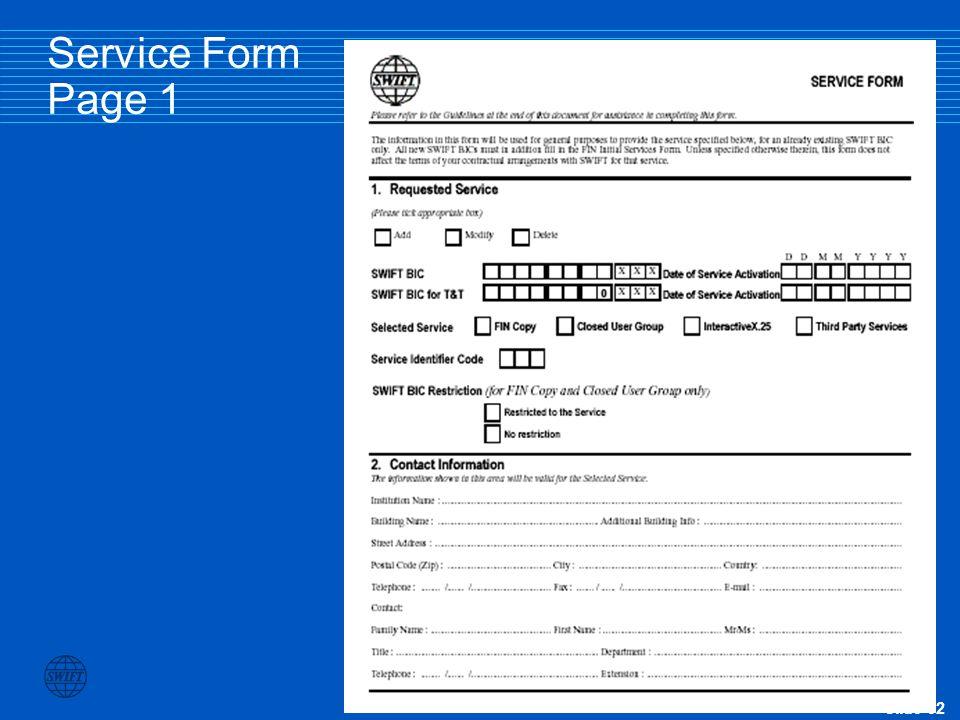 Slide 32 Service Form Page 1