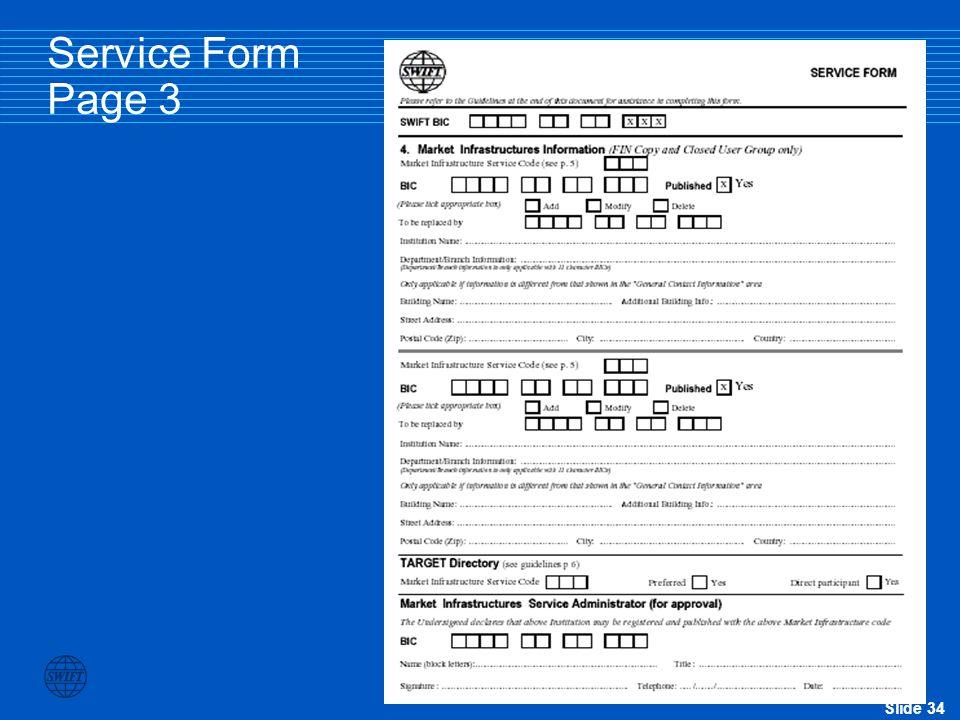 Slide 34 Service Form Page 3