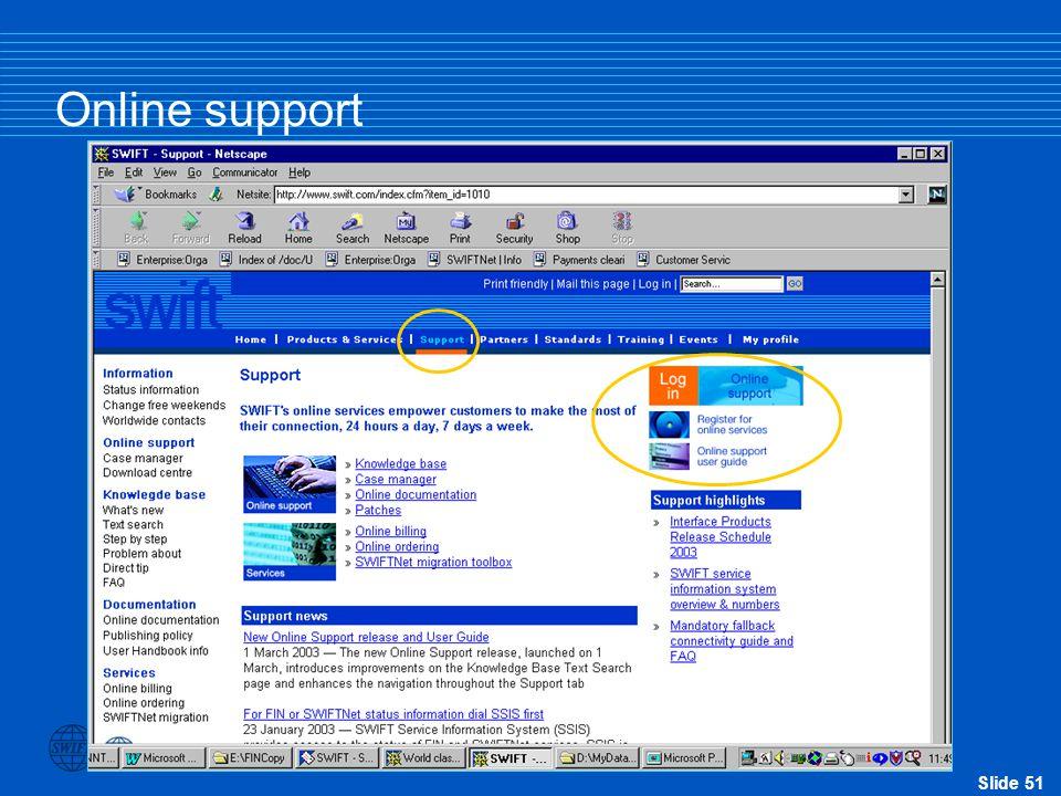 Slide 51 Online support