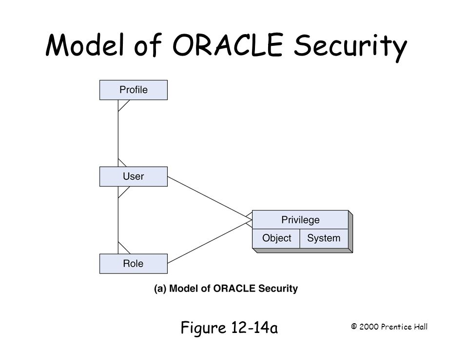 Model of ORACLE Security Page 325 Figure 12-14a © 2000 Prentice Hall