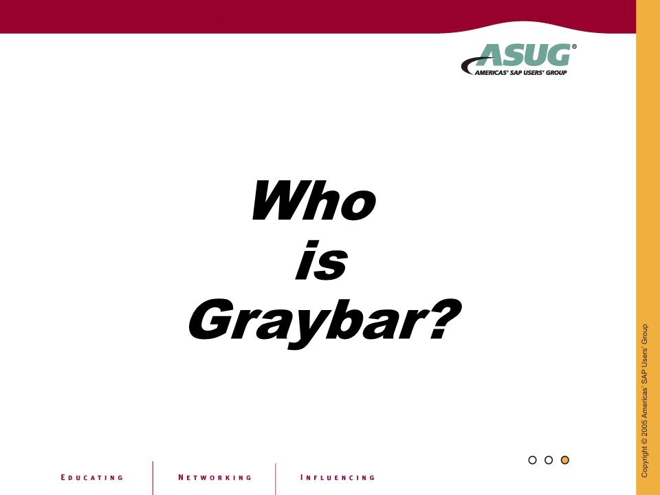 Who is Graybar?