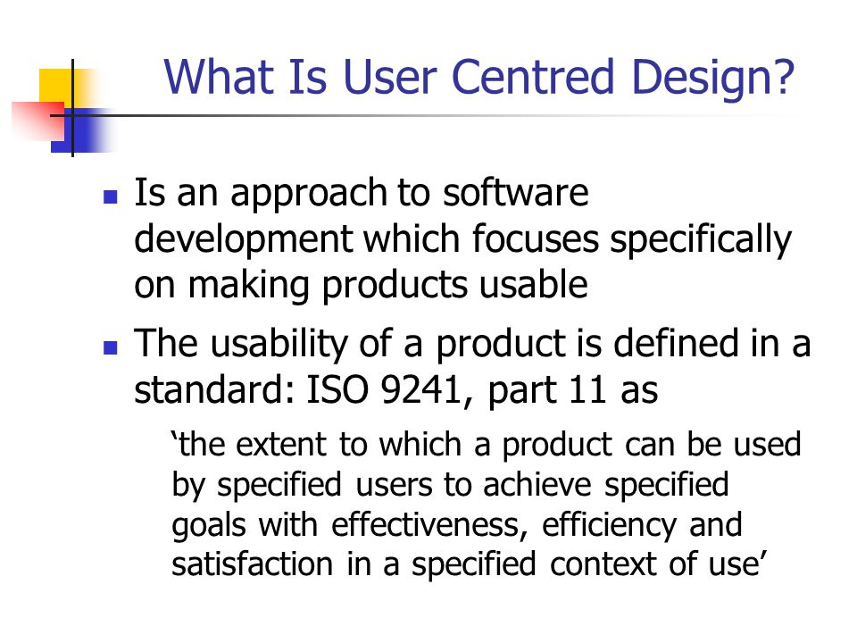 Trump Project (1) has, in its objectives, the integration of user centred methods into the development process is part funded by the European Commission under ESPRIT project 28015 involved three partners and one subcontractor; Serco Usability Services co-ordinated the project and provided the usability expertise to the user partners, Inland Revenue and Israel Aircraft Industries.
