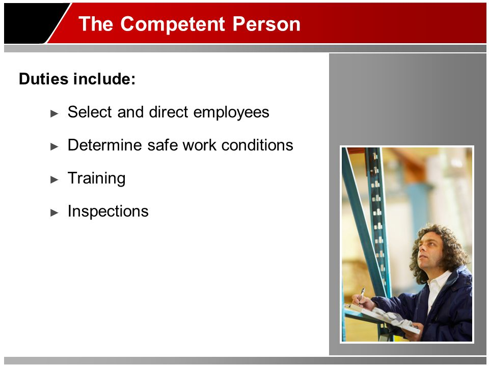 The Qualified Person Duties include: ► Design and load scaffold ► Training ► Design rigging for suspension scaffolds ► Design platforms less than 36
