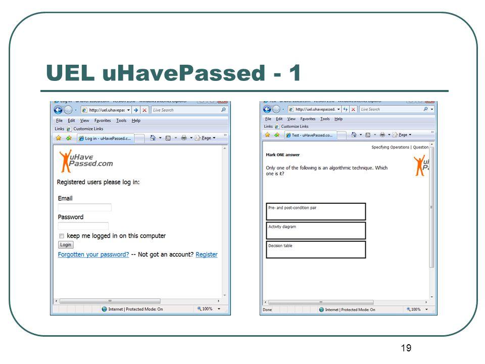 19 UEL uHavePassed - 1