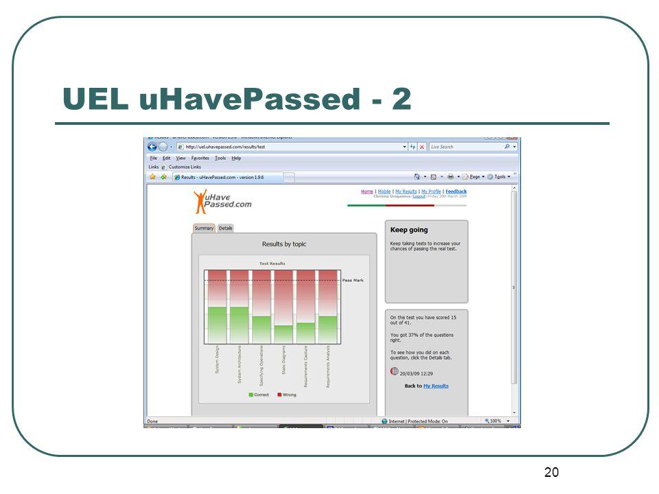 20 UEL uHavePassed - 2