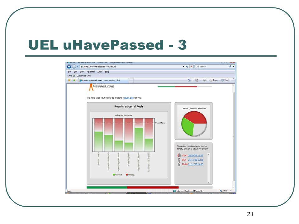 21 UEL uHavePassed - 3