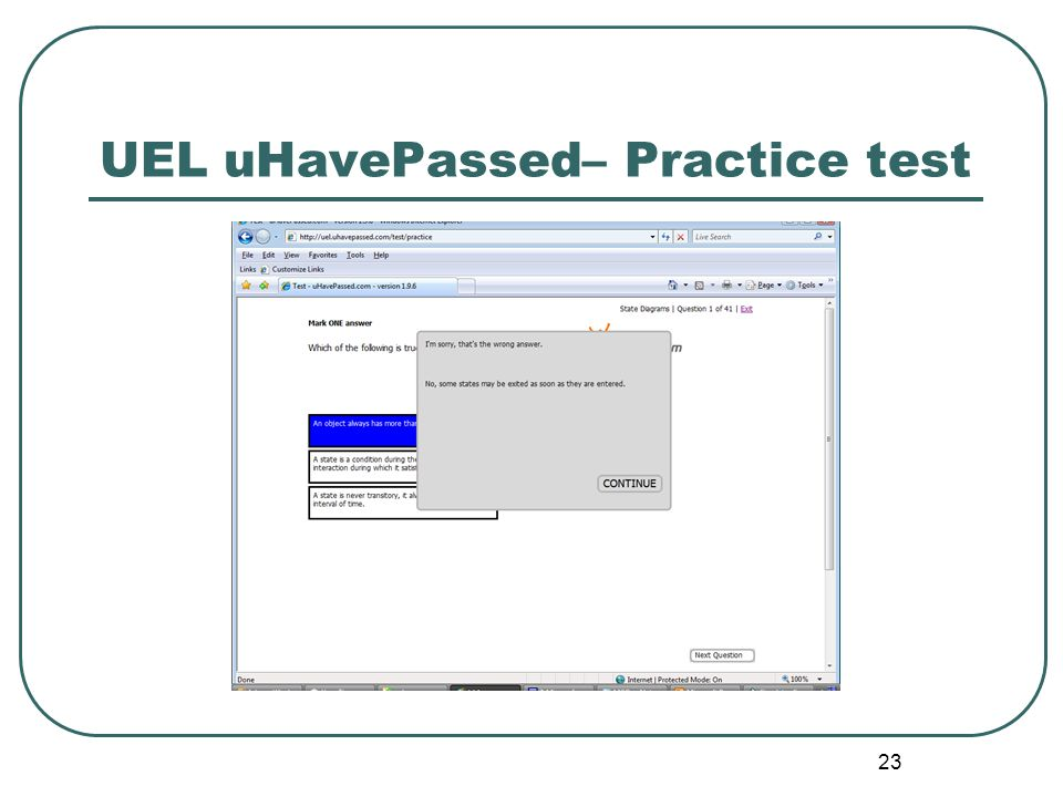 23 UEL uHavePassed– Practice test