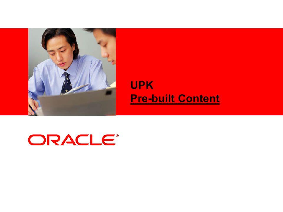 UPK Pre-built Content