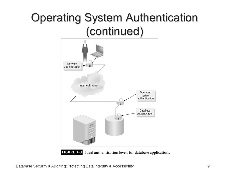 Database Security & Auditing: Protecting Data Integrity & Accessibility9 Operating System Authentication (continued)