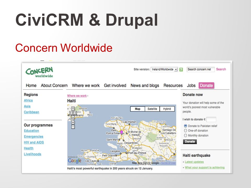CiviCRM & Drupal Concern Worldwide