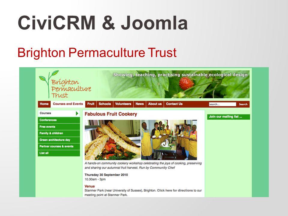 CiviCRM & Joomla Brighton Permaculture Trust