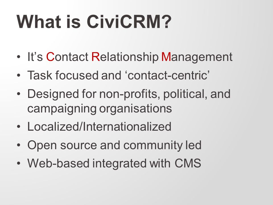 What is CiviCRM.