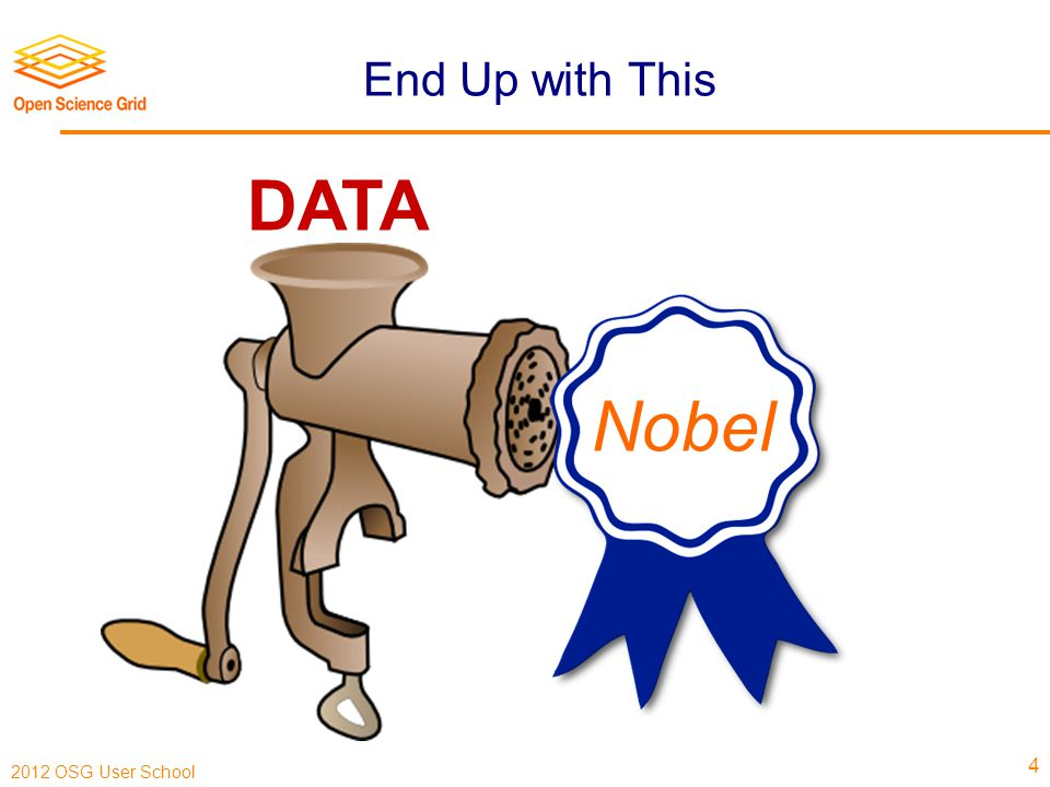 2012 OSG User School End Up with This 4 DATA Nobel