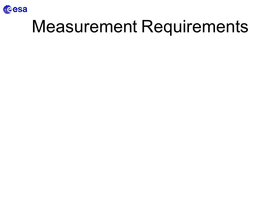 Measurement Requirements