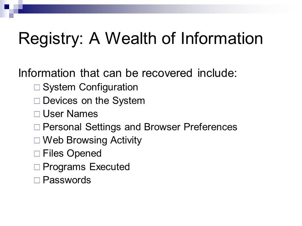Registry Forensics: NTUSER.DAT ICQ  IM contacts, file transfer info etc.