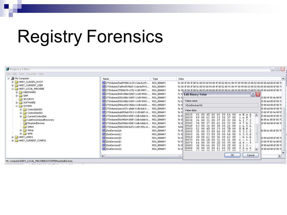 Registry Forensics