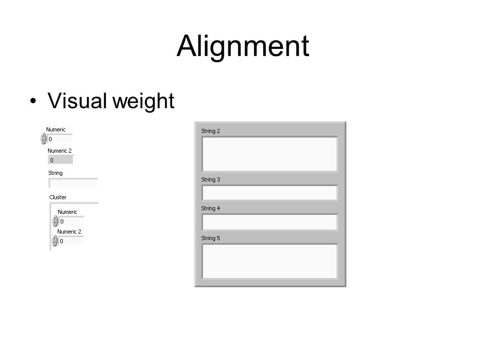 Alignment Visual weight