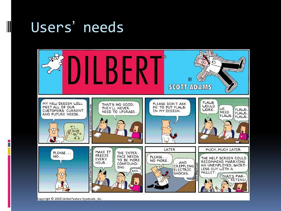 Users' needs