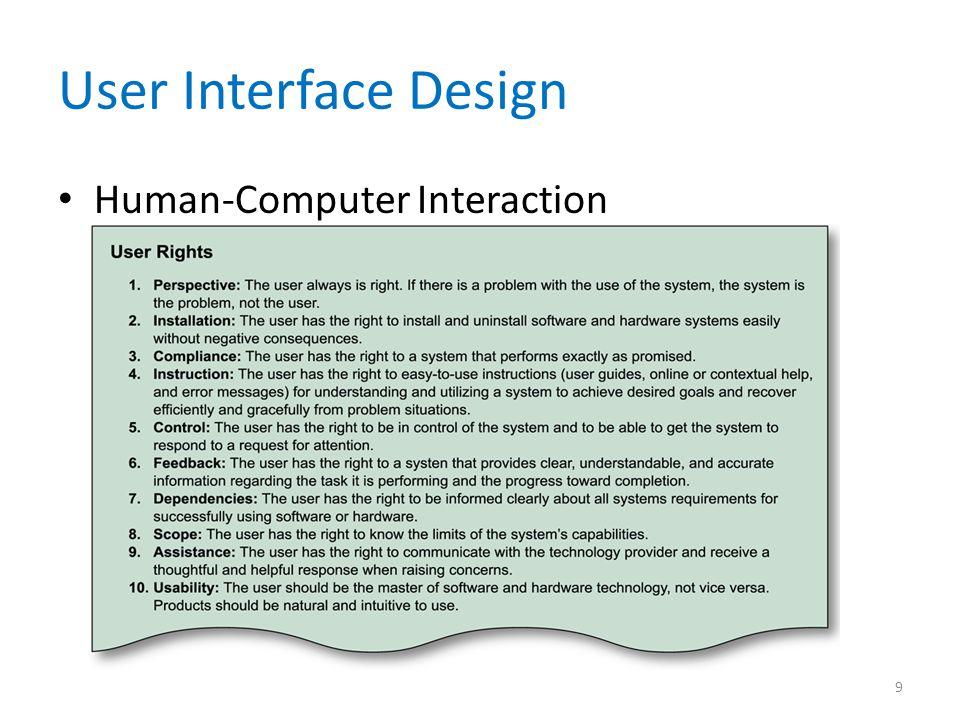 User Interface Design Human-Computer Interaction 9